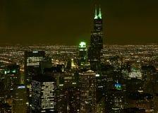 Escena de la noche de Chicago fotografía de archivo