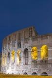 Escena de la noche de Colosseum Fotografía de archivo