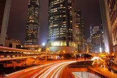 Escena de la noche de Hong-Kong Imagen de archivo