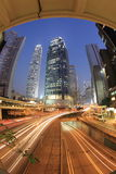 Escena de la noche de Hong-Kong, central Fotografía de archivo libre de regalías