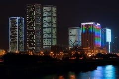 Escena de la noche de la ciudad Fotografía de archivo libre de regalías