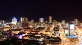 Escena de la noche de la ciudad Imagen de archivo