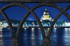 Escena de la noche de la ciudad Foto de archivo