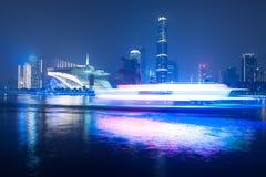 Escena de la noche de la ciudad de Guanghzou fotografía de archivo libre de regalías