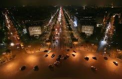 Escena de la noche de la ciudad de la noche del st de París Fotografía de archivo libre de regalías