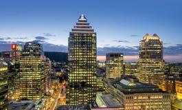Escena de la noche de la ciudad de Montreal Fotos de archivo libres de regalías