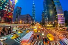 Escena de la noche de la ciudad de Taipei Imagen de archivo libre de regalías