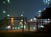 Escena de la noche de la fábrica Fotos de archivo