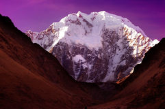 Escena de la noche de la montaña de Salcanty Fotos de archivo libres de regalías