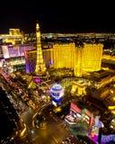 Escena de la noche de la tira de Las Vegas fotografía de archivo