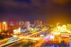 Escena de la noche de Lichuan imagen de archivo libre de regalías