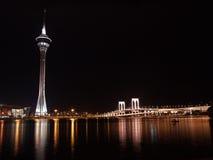 Escena de la noche de Macau Foto de archivo libre de regalías