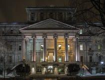 Escena de la noche de Montreal Fotografía de archivo libre de regalías