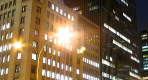Escena de la noche de Montreal foto de archivo libre de regalías