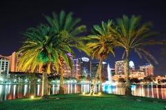 Escena de la noche de Orlando Fotografía de archivo