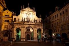 Escena de la noche de Praga Foto de archivo