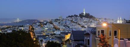 Escena de la noche de San Francisco Imagen de archivo libre de regalías