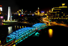 Escena de la noche de Shangai Fotografía de archivo