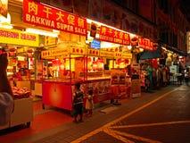 Escena de la noche de Singapur Chinatown Imagen de archivo libre de regalías