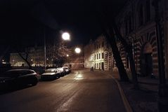Escena de la noche de St Petersburg Imagenes de archivo