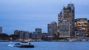 Escena de la noche de Sydney imagen de archivo libre de regalías