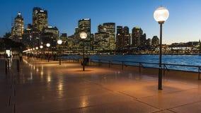 Escena de la noche de Sydney fotografía de archivo