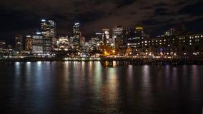 Escena de la noche de Sydney imagenes de archivo