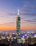 Escena de la noche de Taipei Fotos de archivo
