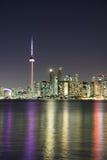 Escena de la noche de Toronto céntrico Imágenes de archivo libres de regalías