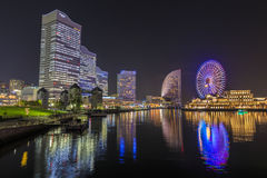 Escena de la noche de Yokohama Imagenes de archivo