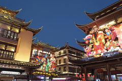 Escena de la noche de Yuyuan Imagenes de archivo
