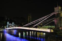 Escena de la noche del puente Imagen de archivo libre de regalías