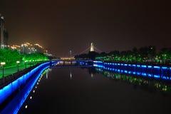 Escena de la noche del río de la perla Imágenes de archivo libres de regalías