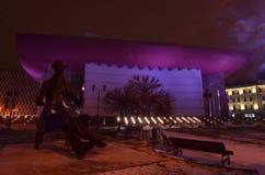 Escena de la noche del teatro nacional de Bucarest