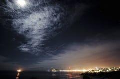 Escena de la noche, Douglas, isla del hombre foto de archivo