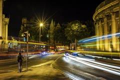 Escena de la noche en Dublin City Centre Foto de archivo libre de regalías