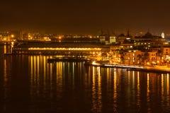 Escena de la noche en La Habana vieja Foto de archivo