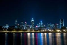 Escena de la noche en Montreal Foto de archivo libre de regalías