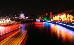 Escena de la noche en Nanjing Imágenes de archivo libres de regalías
