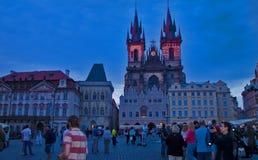 Escena de la noche en Praga, República Checa Imágenes de archivo libres de regalías