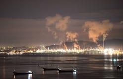 Escena de la noche de Huizhou Daya Bay Nuclear Power Station fotos de archivo