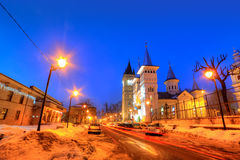 Escena de la noche, yegua de Baia, Rumania Imagenes de archivo