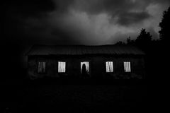 Escena de la película de terror Imagen de archivo libre de regalías