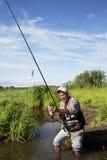 Escena de la pesca Fotos de archivo libres de regalías