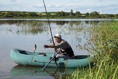 Escena de la pesca fotografía de archivo libre de regalías