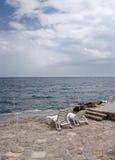 Escena de la playa Fotos de archivo libres de regalías