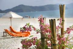 Escena de la playa Imagenes de archivo