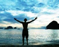 Escena de la playa Imagen de archivo
