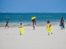 Escena de la playa de Diana Imágenes de archivo libres de regalías