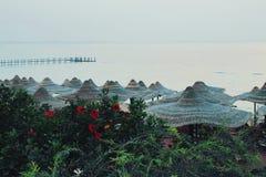 Escena de la playa de Egipto Imagen de archivo libre de regalías